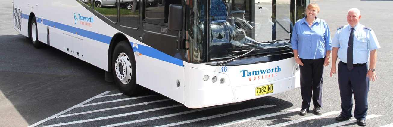 Tamworth Buslines bus